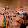 Gods Along Haridwar Ganges Banks
