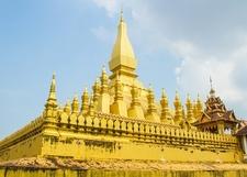 Golden Pratat Luang Pagoda In Vientiane