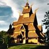 Gol Stave Church Replica In Park