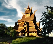 Gol Stave Church Replica In Park