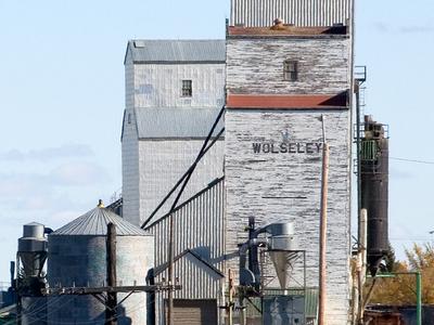 Grain Elevators In Wolseley.