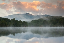 Grandfather Mountain - Julian Price Lake Above North Carolina