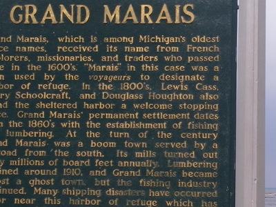 Grand  Marais  2 C  M I Historic Marker