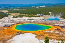 Grand Prismatic Spring View - Yellowstone NP