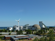 Great Lakes Science Center With Windmill