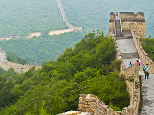 Panoramic View of the Mutianyu Great Wall by Helicopter Tour