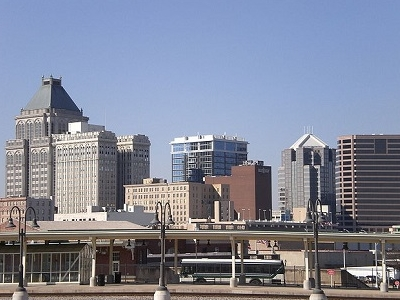 Downtown Greensboro Skyline NC