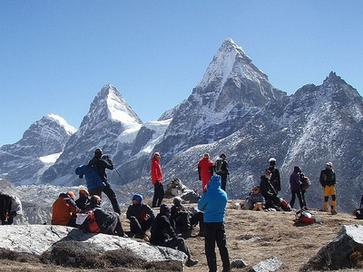 Gyazumba Acclimatization Camp - Nirekha In Backdrop - Nepal Himalayas