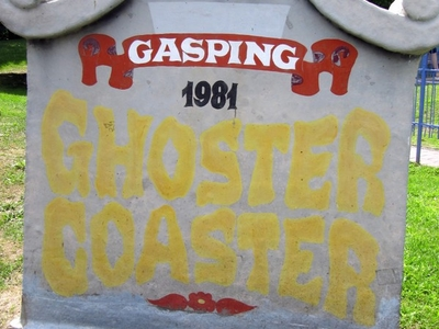 Ghoster Coaster Sign
