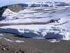 Glacier At Summit Of  Mt Kilimanjaro
