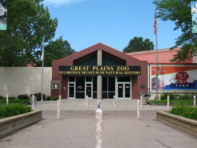 Entrance To The Great Plains Zoo
