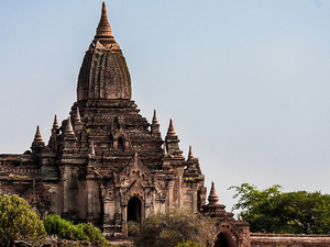 Half Day Old Bagan Architecture From Hotel Inside Bagan City Only Photos