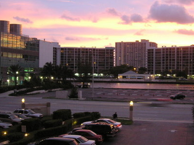 Hallandale Beach At Sunset