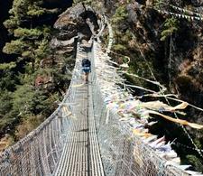 Hanging Footbridge Along The Trek