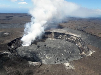 Halemaumau Crater From Hawaiian Volcano Observatory