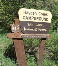 Hayden Creek Campground