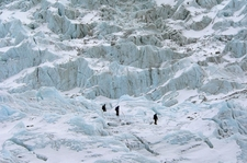 Heading Up Khumbu Icefall