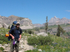 Hiker Along Marion Lake Trail- Grand Tetons - Wyoming - USA
