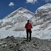 Hiker At Khumbu Icefall - Nepal Himalayas