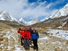 Hiker Group Near Dingboche - Nepal Himalayas