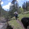 Hikers On Big Bonito Trail