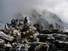 Hikers On Kala Patthar Peak