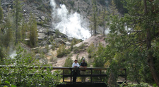 Hikers On The Devils Kitchen Trail
