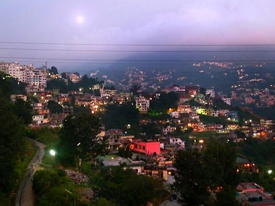 Hills Of Solan City In Fog During Winters