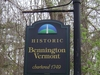 Historic Bennington Vermont Sign