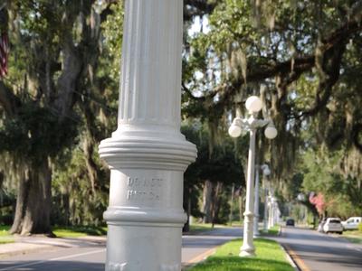 Historic Lampposts Lining Franklins Main Street.