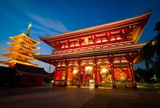 Hozomon Gate Of Asakusa Temple