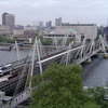 Hungerford Bridge y Golden Jubilee Bridges