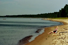 Harrisville Beach Near State Park Lake Huron