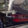 Historic Steam Train On Rigi