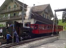 Historic Steam Train On Rigi
