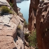 Hole-in-the-Rock, Looking Down At Lake Powell