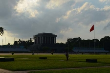 Ho Chi Minh Mausoleum From Park
