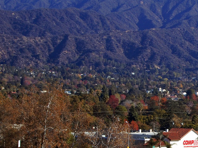 Monrovia With San Gabriel Mountains In The Background.