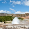 Iceland - Strokkur Pleasing Visitors