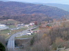 The View From Battle At Cedar Branch Marker Above Saltville.