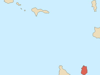 Locator Map Of  Maio  Cape Verde