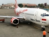 Indonesia AirAsia Boeing 737-300 On Stand At Polonia Airport