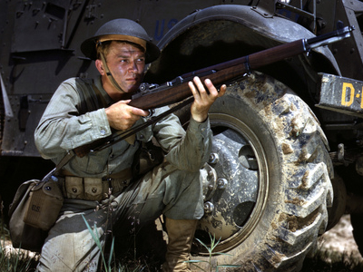 Infantryman In  1 9 4 2 With  M 1  Garand  2 C  Fort  Knox  2 C