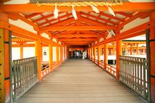 Interior Of Building At Itsukushima Shrine