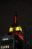 In Yellow And Red Light Empire State Building