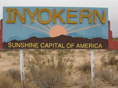 Inyokern Entrance Sign