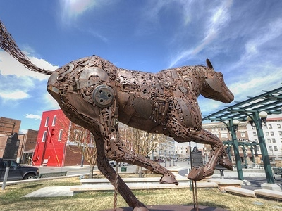 Iron Horse Sculpture At Cheyenne WY