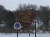 Iron Ridge Wisconsin City Welcome Sign