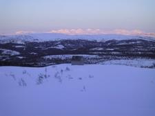 Okstindan Mountains And Glacier