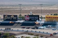 Crash At Las Vegas Motor Speedway